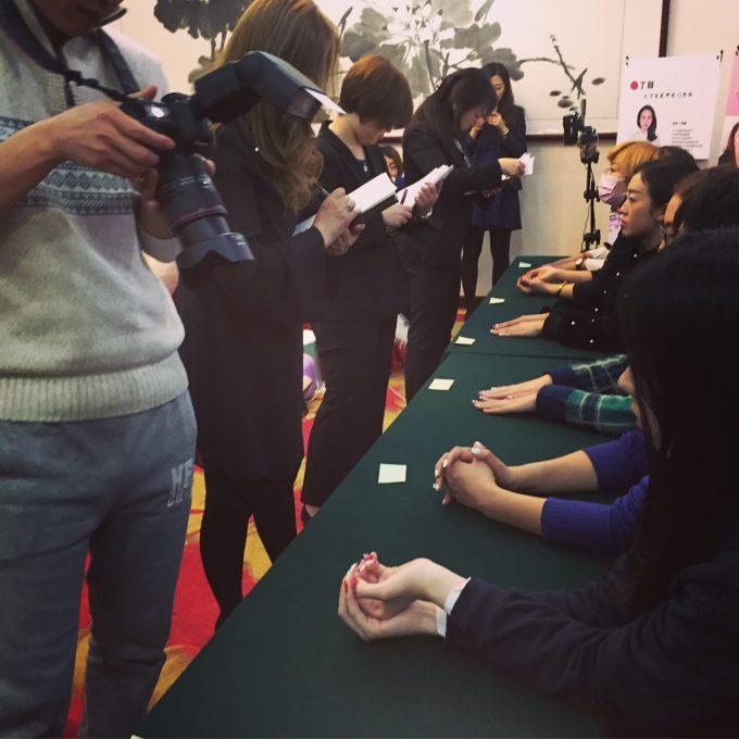 【海外ネイルセミナー情報】エンパイアニューヨークネイルスクール東京校長名取由稀江が中国北京でネイルセミナーを行い、200人を超える参加者で賑わいました(^^♪