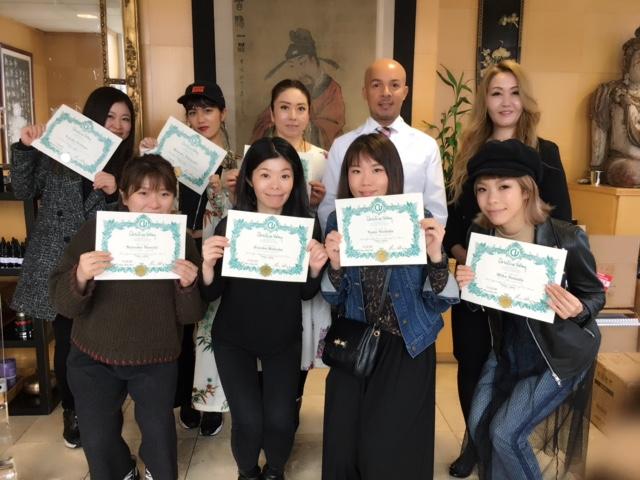 ニューヨーク州ネイルライセンス試験が行われ、8名のネイリストの皆さんが受験のために渡米しました ネイリスト協会認定校 エンパイアニューヨークネイルスクール東京